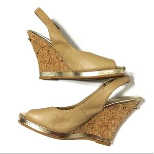 Lilly Pulitzer Kristin Wedge in Natural Sz 7